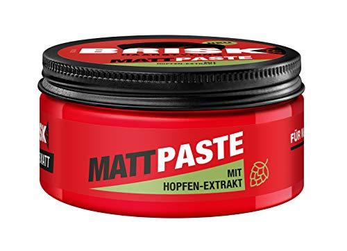 BRISK Mattpaste, Haarwachs mit Hopfen-Extrakt, Pomade, Styling-Creme für Männer, mattes Haargel, fixiert die Frisur, Herrenpflegeprodukte, 6 x 75 ml
