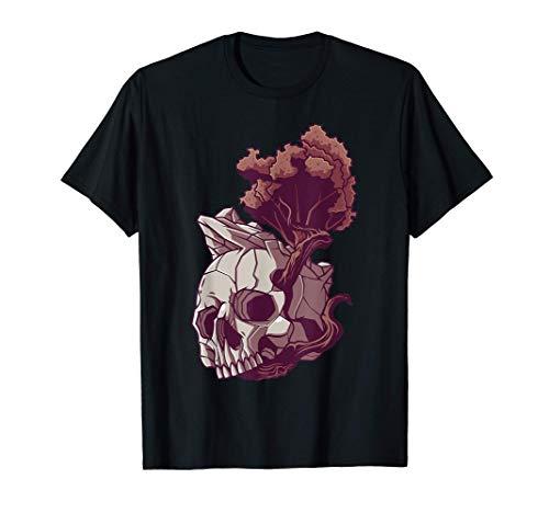 Cráneo de la Naturaleza Gothic Creppy Disfraz de Halloween Camiseta