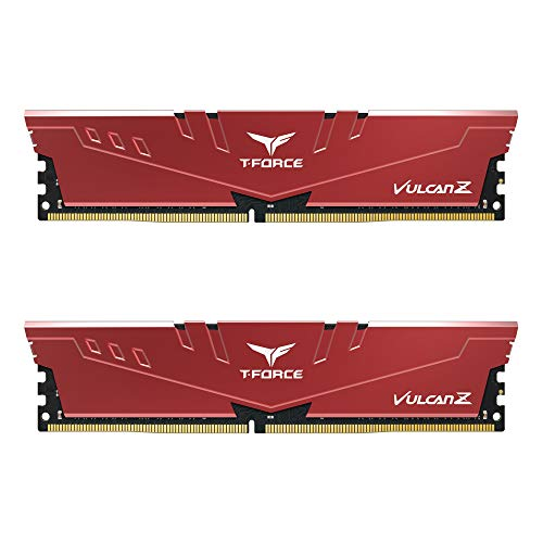 TEAMGROUP T-Force Vulcan Z DDR4 16GB Kit (2x8GB) 3200MHz (PC4-25600) CL18 Desktop Memory Module Ram (Red) - TLZRD416G3200HC16FDC01. Buy it now for 79.49