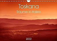 Toskana - Traeume in Italien (Wandkalender 2022 DIN A4 quer): Toskana - Traeume in Italien (Monatskalender, 14 Seiten )