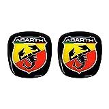 Abarth 32010 - Adhesivo 3D con logotipo delantero + trasero, escudo oficial para Fiat 500