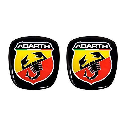 Abarth 32010 - Adhesivo 3D con logotipo delantero + trasero, escudo oficial...