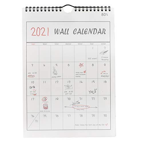 Toyvian 2021 Calendario da parete, Calendario da appendere Memo Calendari da parete mensili, Agenda mensile 16 mesi, Settembre 2020-Dicembre 2021