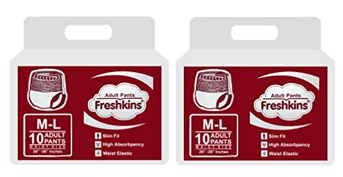 Freshkins Adult Diaper Pant M - L (Pack of 2, 20 Unit)