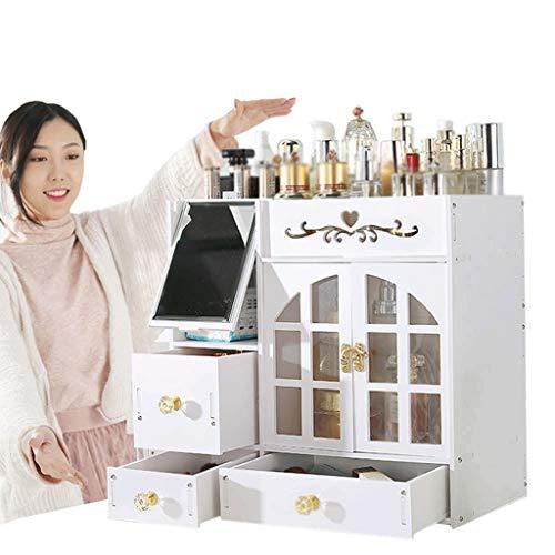 JYDQM Estuches de almacenamiento de joyas y maquillaje de cosméticos acrílicos Sorbus Conjuntos de exhibición: cajones con cierre para crear su propio contador de maquillaje especialmente diseñado: ap