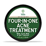 TreeActiv Four-in-One Acne Treatment, Acne Face Wash, Cleanser Mask for Face, Cystic Spot Remover, Pimple Kit, 4 fl oz (118 ml)