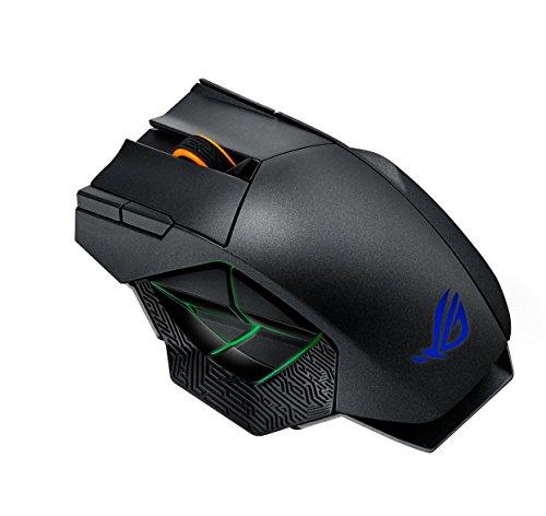 ASUS ROG Spatha Mouse Gaming Wireless, 8200 DPI, 12 Pulsanti Programmabili, Aura SYNC RGB, Memoria Flash Integrata