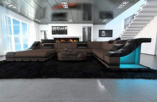 Sofa Dreams Stoffsofa Wohnlandschaft Turino in XXL mit Beleuchtung