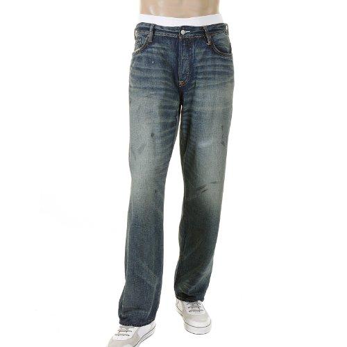 EVISU Denim Jeans White Logo Denim Jean ESP09MJE117 D141 EVIS1369