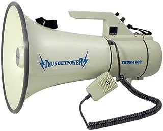 Extra Loud, Heavy Duty Megaphone - ThunderPower 1200 - 45 Watts of Power