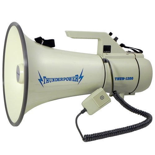 Extra Loud, Heavy Duty Megaphone - ThunderPower 1200 - 45 Watts of Power
