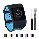 FITLI Compatible for Fitbit Surge Bands, Replacement Band Strap for Fitbit Surge Watch with Metal Buckle Fitness Wristband Strap Wrist Band Accessories Women Men