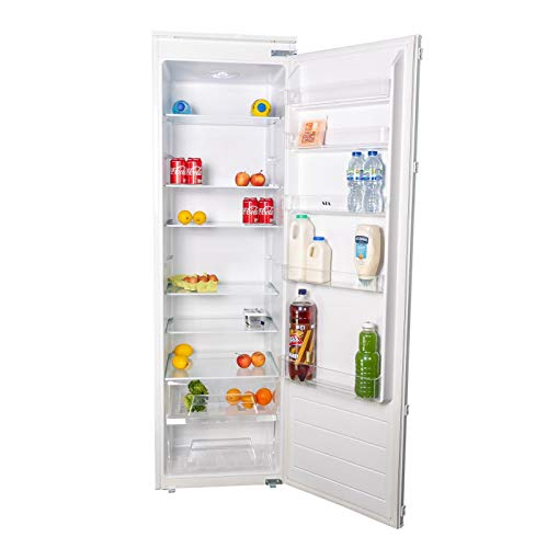 SIA RFI106 304L White Integrated Built In Tall Larder Fridge With Auto Defrost & Metal Back