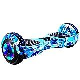 Vudifo Hoverboard Auto Bilanciamento Scooter 10 Pollici all Terrain Due Ruote Luminose a LED velocità Massima di 15 KM Altoparlanti Bluetooth a 20 miglia di Distanza per Regalo per Bambini Adulti