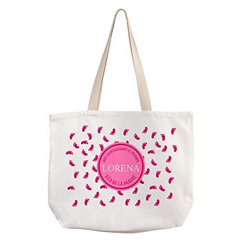 LolaPix Bolsas Compra Personalizadas con Nombre/Texto. Regalos Dia de la Madre Personalizados. Varios diseños. Mamá Primeriza Rosa