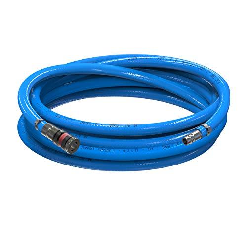 AUPROTEC Sicherheits Druckluftschlauch Set Prevost PVC-Schlauch Surflex Pro + Würth S2000 Sicherheits Kupplung Auswahl: (1m Meter, Innen Ø 6mm)