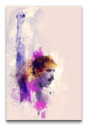 Freddie Mercury Queen Abstrakt Kunst Musiklegende 60x90cm Leinwandbild