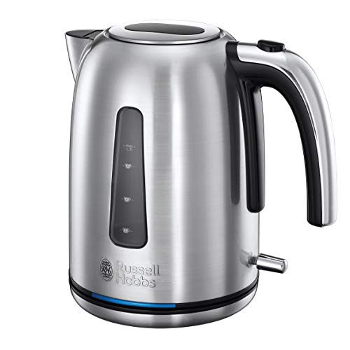 Russell Hobbs 23940 Velocity Fast Boil Electric Kettle, Stainless Steel, 3100 W, 1.7 Litre