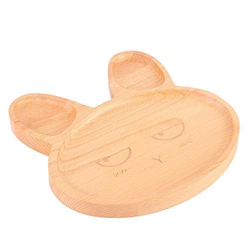 Plato de Comedor para niños Bandeja para Servir Aperitivos Bandeja de Comida Orejas largas Forma de Animal de Dibujos Animados Encantador para Restaurante para bebés