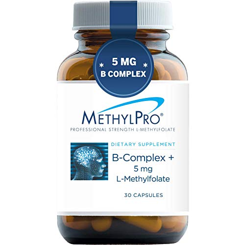 MethylPro B-Complex + 5mg L-Methylfolate (30 Capsules) - Professional Strength B Vitamins for Energy, Mood + Immune Support with Active Methyl Folate, Methyl B12, B6 as P-5-P - Gluten-Free