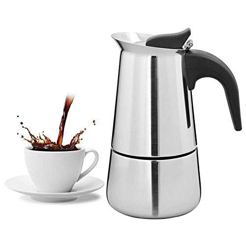 YYAI-HHJU Olla Moka,Cafetera Espresso Portátil,Olla Moka,Cafetera De Acero Inoxidable,Hervidor De Agua para...