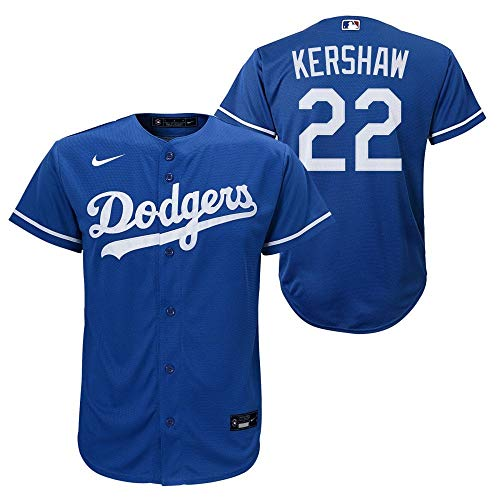Nike MLB Los Angeles Dodgers Clayton Kershaw Road Twill Youth Jersey, Jugendliche, Gr. S