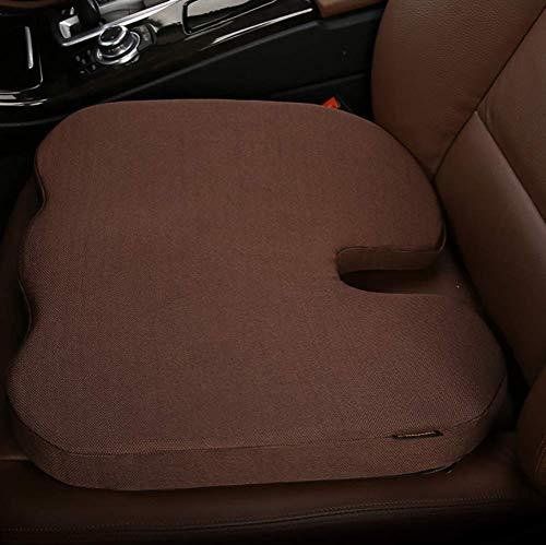 Memory Foam Sitzkissen, auf Körperwärme ansprechende, orthopädische U-Ausschnitte zur Schmerzlinderung, Autokissen, gelb