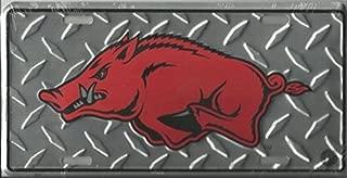 Arkansas Razorbacks Collegiate Diamond Embossed Metal Novelty License Plate Tag Sign 2571
