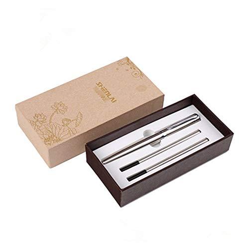 Kaerma, Zubehör für die hohe Qualität des Metalls, Kugelschreiber für Büro mit Geschenk für den Tag, schwarze Geschenkbox, personalisierbarer Kugelschreiber zum Geburtstag grau