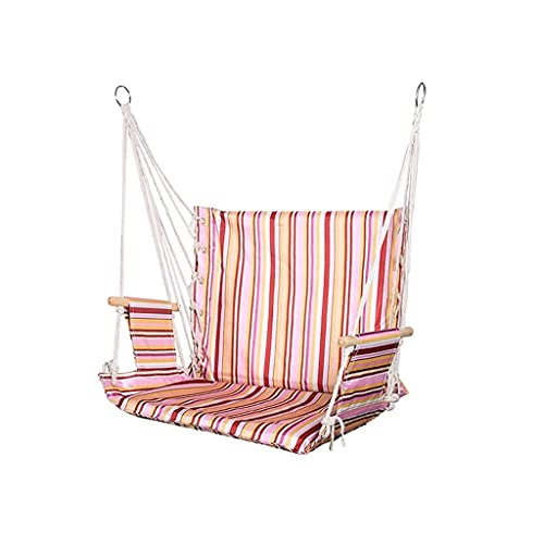 LZL Silla de Hamaca Que rodamientos de Carga 175 kg Colgando en el jardín Colgando al Aire Libre Suave Cojines Asiento Dormitorio Dormitorio Silla Colgante (Color : Pink, tamaño : Small)