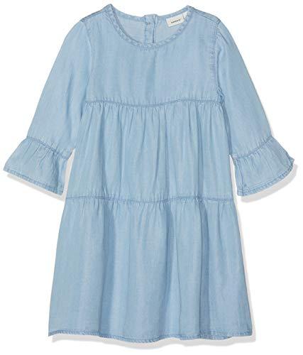 NAME IT Mädchen Kleid NMFDINA LS DRESS, Blau (Blue Bonnet), (Herstellergröße: 92)