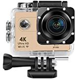 Xmate Shot Pro Sports Action Camera (Gold) |16MP Camera | 4K Video Recording | Water-Resistant | Supports Micro SD Card up to 32G