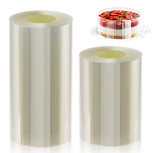 Cake Collars, Transparent Acetate Sheets, Cake Strips, Curling Baking Belt, Acetate Rolls for Chocolate Mousse Baking, Cake Decorating