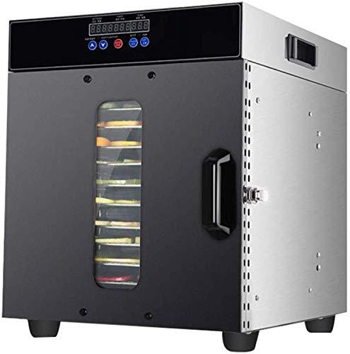 LXDDP Elektro-Dörrgerät LED-Digitalanzeige 12-lagiges Edelstahlfach Kapazität Präzisions-Temperaturregelung Humanized Design Food Dryer 220V