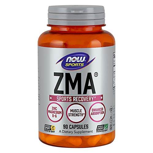 Now ZMA 90 Capsules | Mineral Anabolic | Testosterone Booster | Natural Hormone Support for Muscle Mass Growth