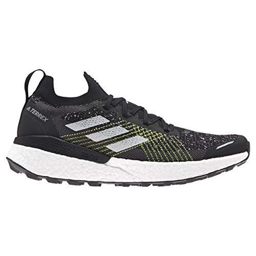 adidas Terrex Two Ultra PRIMEBLUE, Zapatillas para Carreras de montaña Hombre, Core Black/FTWR White/Solar Yellow, 43 1/3 EU