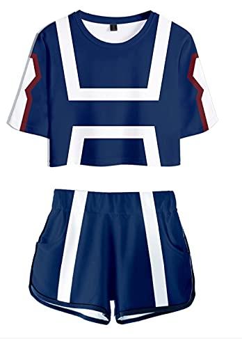 Hifoda Camiseta y Pantalones Cortos My Hero Academia Niña Conjuntos de Ropa...