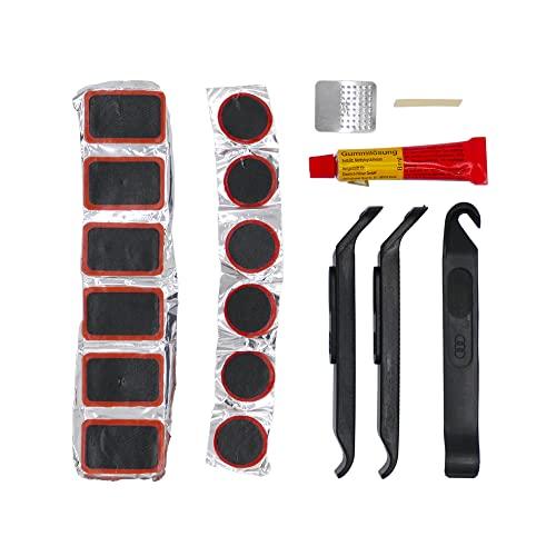 P4B   19-teiliges Reparatur-Set für Ihre Fahrradschläuche   Fahrrad-Reparaturset   Mit 3X stabilen Reifenheber für ein einfaches Lösen des Reifens und des Schlauches