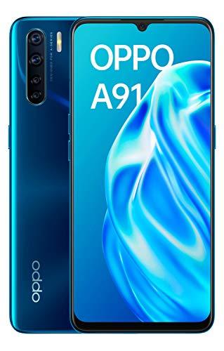 "OPPO A91 - Smartphone de 6.4 "" AMOLED, 8GB, 128GB, Octa-core, cámara trasera 48 + 8 + 2 + 2 MP, cámara frontal 16 MP, 4.000 mAh, Android 9, Azul"