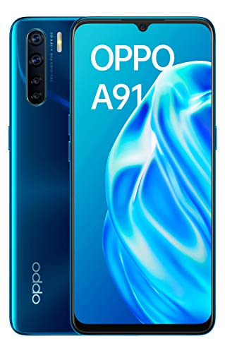 "Oppo A91 - Smartphone de 6.4"" AMOLED, 8GB/128GB, Octa-Core, cámara Trasera 48 + 8 + 2 + 2 MP, cámara Frontal 32 MP, 4.000 mAh, Android 9, (Blazing Blue)"
