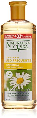 Naturaleza Y Vida 1101-73825 - Champú Sensitive Camomila, 400 ml