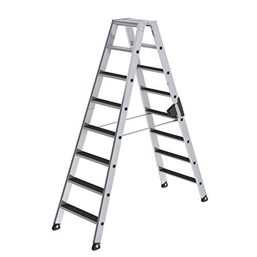 Aluminium ladder - clip-step - aan beide zijden beloopbaar, 2 x 8 treden - 41608