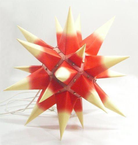 I4, roter Kern / gelbe Spitzen, Weihnachtsstern Herrnhut für Innen, aus Papie...