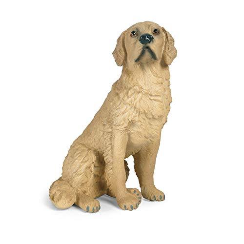 Hging Golden retriever Dog Figurines Playset, Figuras de perros Juguete Juguete Alto Simulación Modelo de animales Modelo de juguete Decoración de oficina para niños Regalo educativo para niños Realis