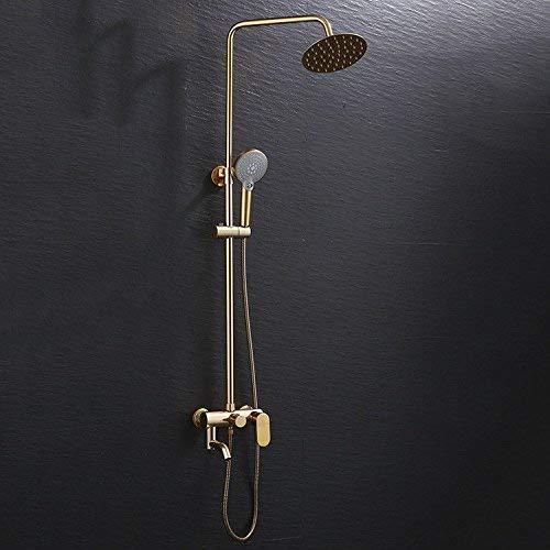 CLJ-LJ Baño vanidad fregadero grifo tres engranajes lluvia ducha conjunto espacio aluminio agua caliente y fría mano baño lavabo grifo baño