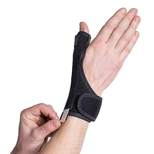 Férula de metal estabilizadora para lesiones del pulgar y tendinitis; tamaño universal; mano derecha o izquierda