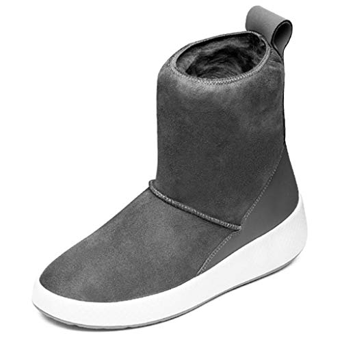 Hiking & Trekking Non-Slip Casual Shoes Winter Warm Boots Women Fur one Snow Boots Female Waterproof Walking Shoes Mountaineering Boots (Color : Gray, Size : 37)