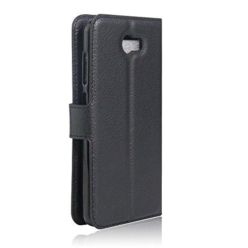 SMTR Huawei Y5II / Huawei Y5 2 Wallet Tasche Hülle - Ledertasche im Bookstyle in Schwarz - [Ultra Slim][Card Slot][Handyhülle] Flip Wallet Case Etui für Huawei Y5II / Huawei Y5 2 - 4