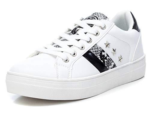 REFRESH - Zapatilla Casual para Mujer - Cierre con Cordones - Color Blanco - Talla 37