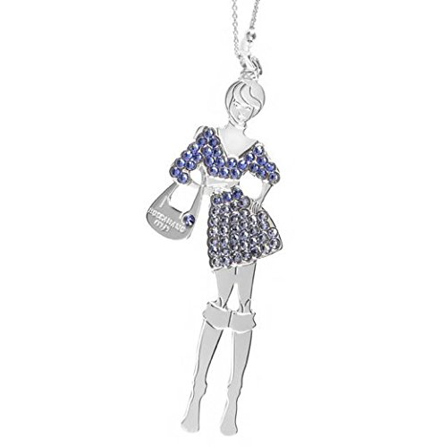 Collana bambolina BOCCADAMO con outfit blu zaffiro